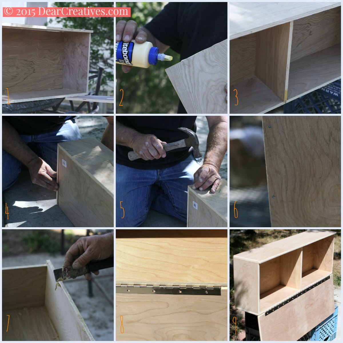 easy diy project | how to build a small cabinet | part two steps to build a coffee - tea cupboard| how to