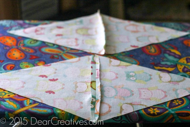easy sewing project pressed open seams for a banner