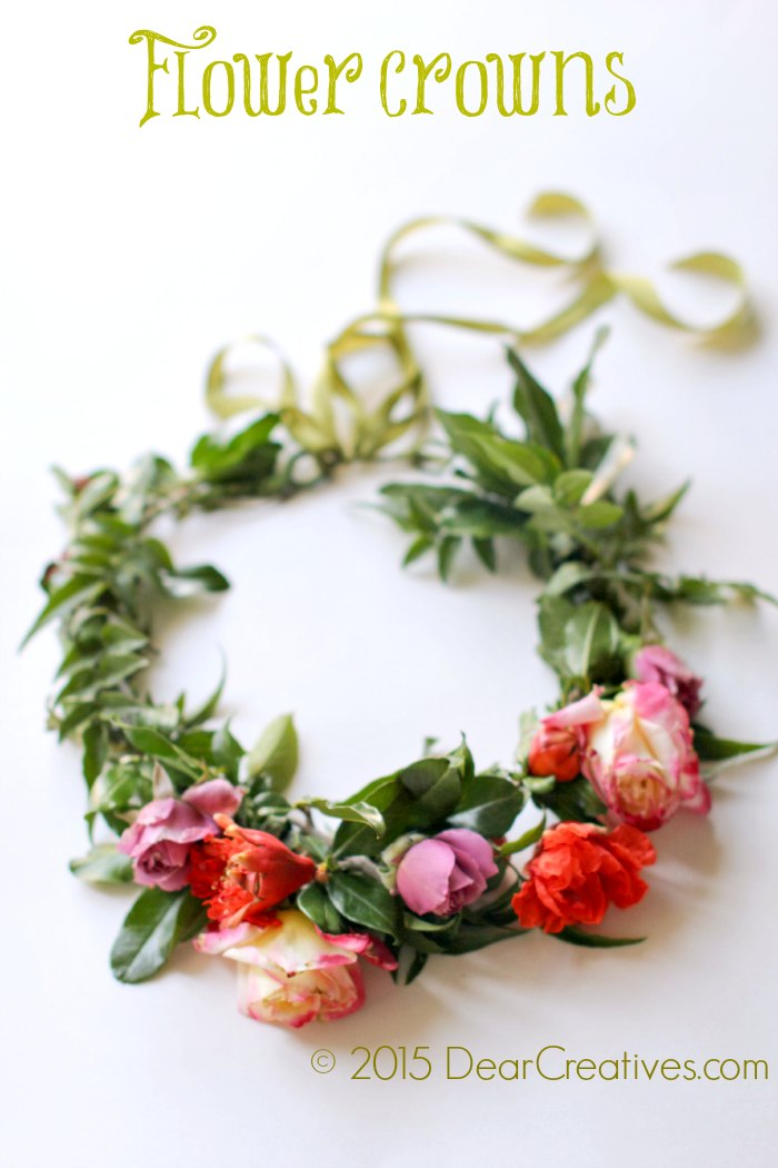 Craft book reviews flower crowns 30 diy floral creations Floral creations