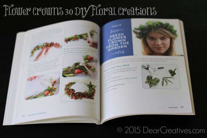 Craft Book Reviews |Flower Crowns 30 DIY  Floral Creations