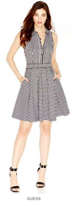 Summer Fashions 2015 |Guess Gingham Dress