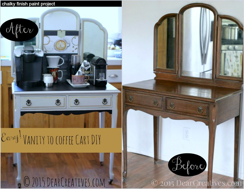 Home Decor Ideas DIY: Vanity To Coffee Cart DIY
