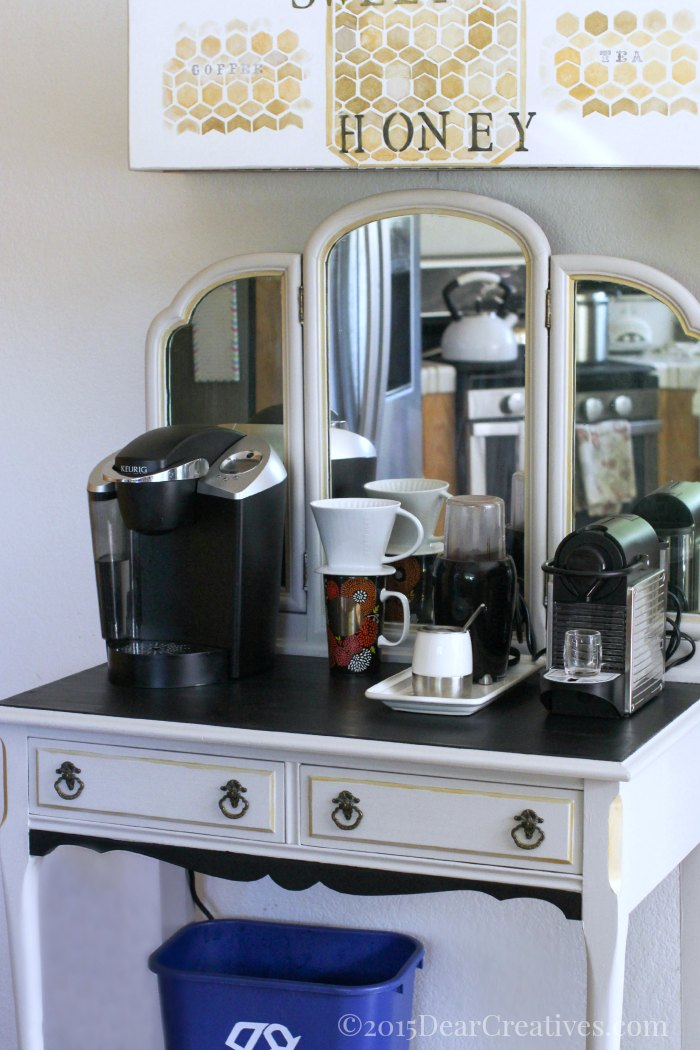 DIY – Vanity to Coffee Cart – Furniture Makeover (Chalky Finish)