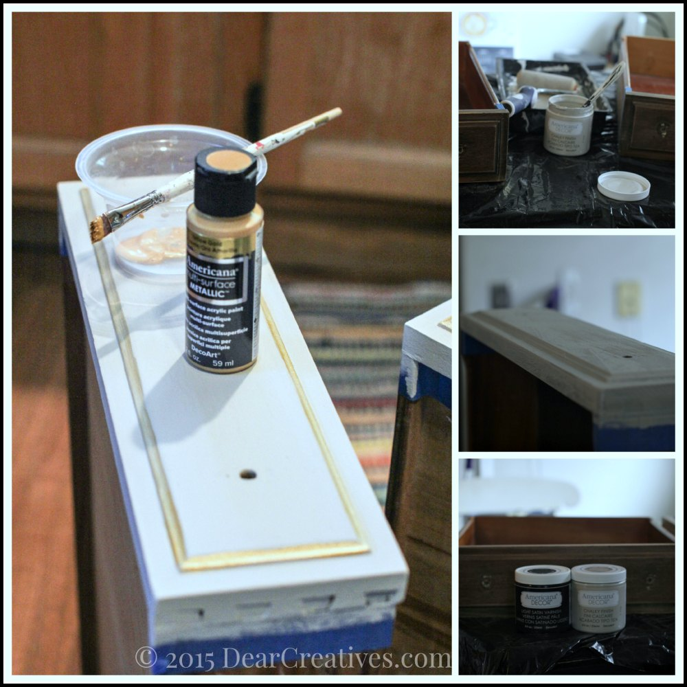 Home Decor Ideas  Painting The Drawers of the Vanity
