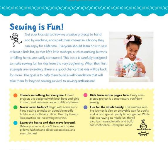 Teaching kids to sew | kids sewing | kids sewing books