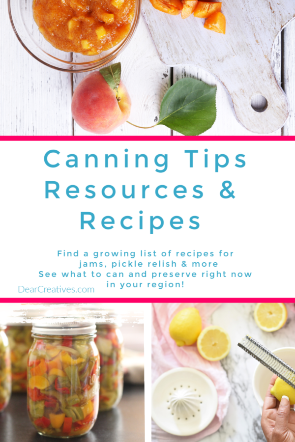Canning Books, Recipes And Canning Resource's You'll Love!