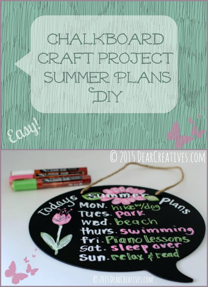 Chalkboard Craft Project