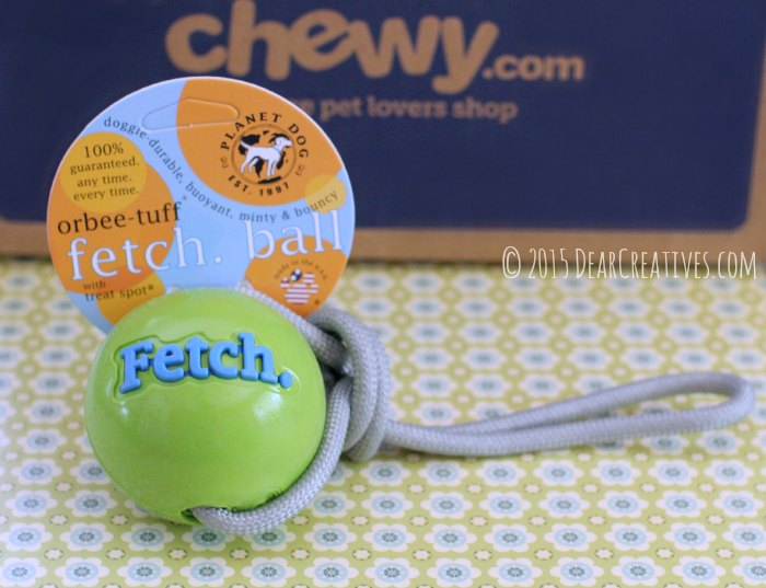 Fetch Dog Ball minty and bouncy