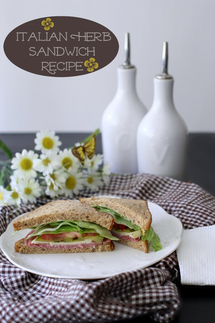 Sandwich Recipes: Easy Italian Herb Sandwich