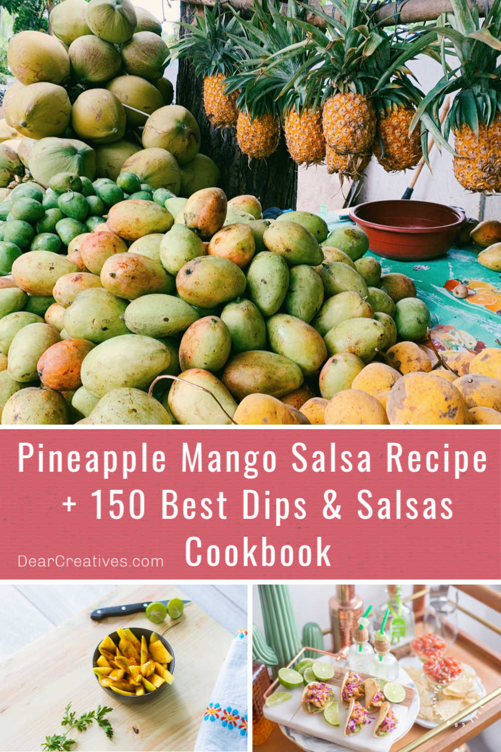 Pineapple Mango Salsa + 150 Best Dips & Salsa Cookbook