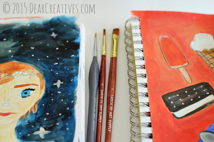 art supplies online|illustrations painted with Santa Fe art supply paint brushes