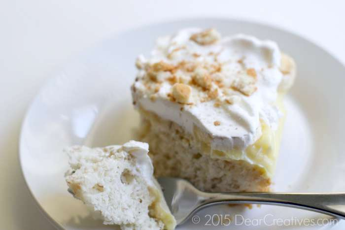 Banana Pudding Ice Box Cake on a plate