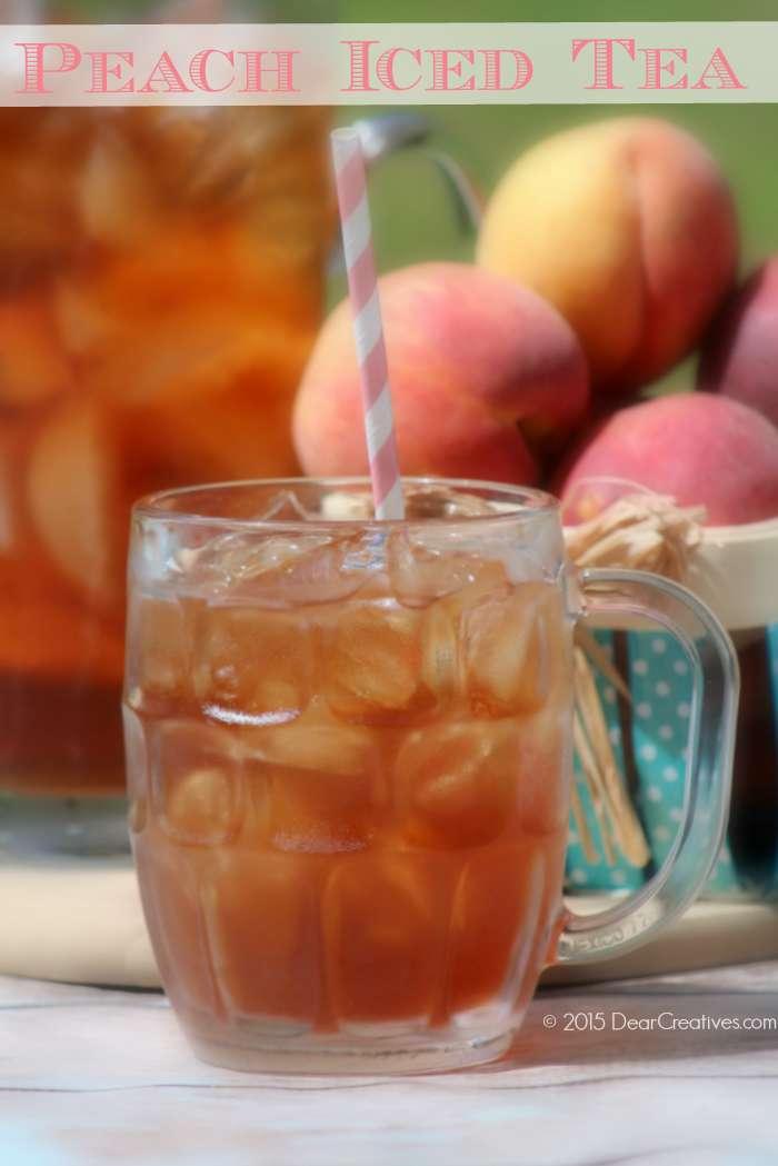 Refreshing Homemade Peach Ice Tea Recipe
