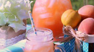 Homemade Peach Strawberry Lemonade