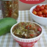 Canning Recipe | Sweet Pickle Relish Recipe | This recipe also can be made for the refrigerator and kept up to 2 weeks