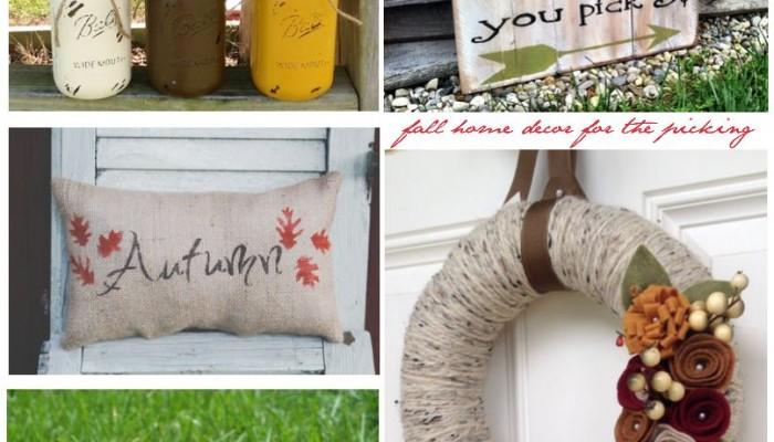 Handmade Fall Décor |Handmade Fall Home Decor | Easy Ideas for Updating Your Home Decor for Fall