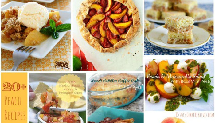 Peach Recipes Round Up of 20+ You'll Love To Make!