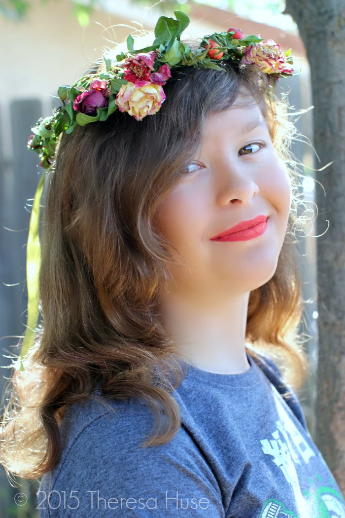 Photography   Flower headband on a young lady outdoors