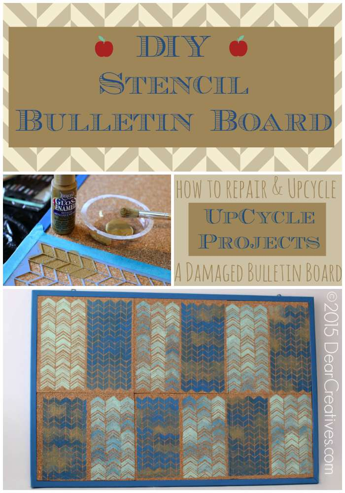 Upcycle Projects | DIY Stencil Bulletin Board
