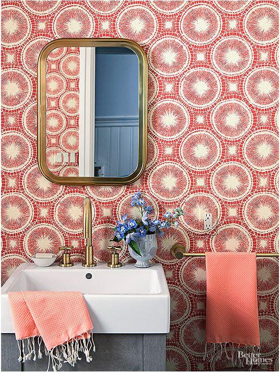 Home decor ideas color inspiration idea spotting for Bathroom decor coral