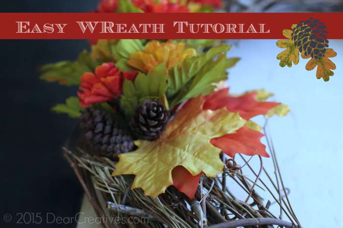 Close up of Wreath With Title overlay