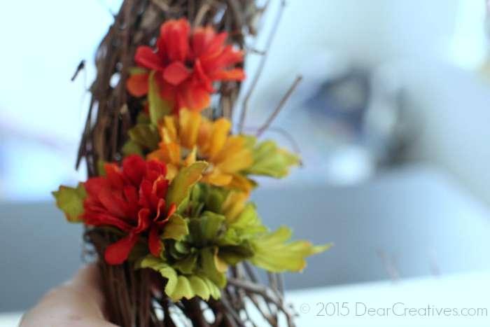 Close up of adding flowers