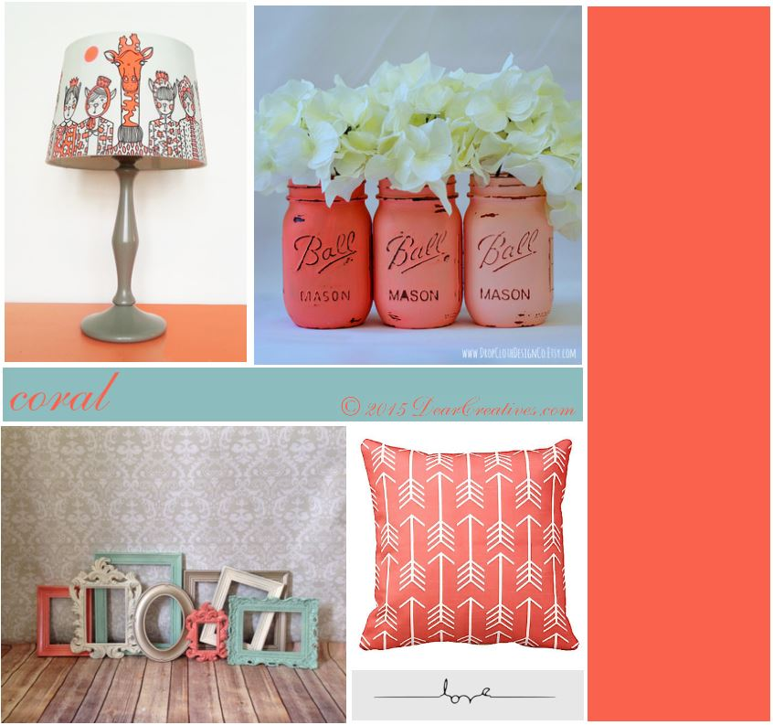 28+ [ coral color home decor ] | what color to compliments cream