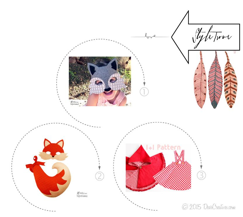 Costume Patterns| Woodland Customs wolf fox red riding hood