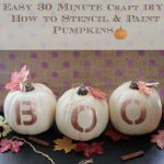 DIY Craft Project | 30 Minute How to Stencil and Paint Pumpkins