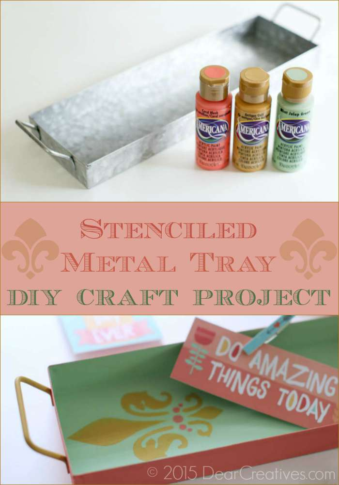 DIY Craft Projects | Stenciled Metal Tray