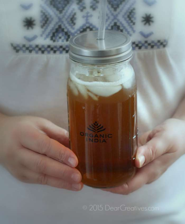 Holding Organic India Tea - Iced Tea