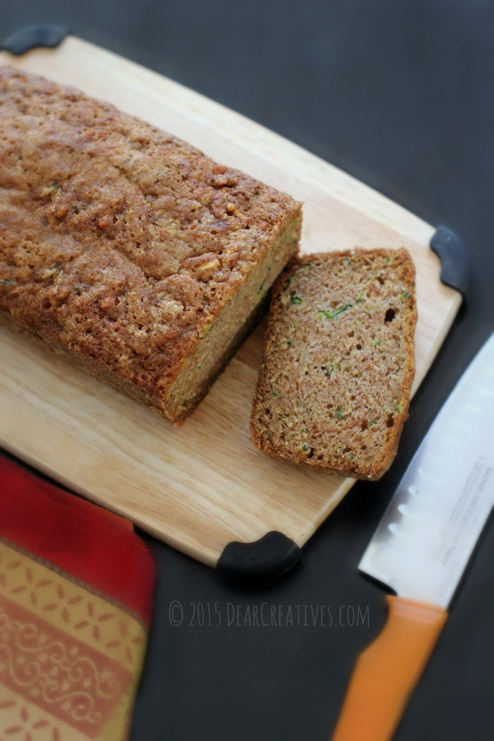 Zucchini Bread recipe that is easy to make, or freeze for later. DearCreatives.com