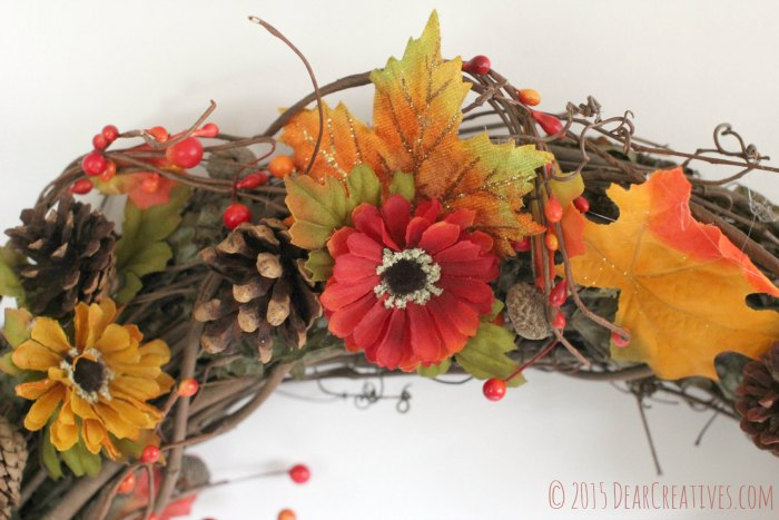 Close up Top of wreath