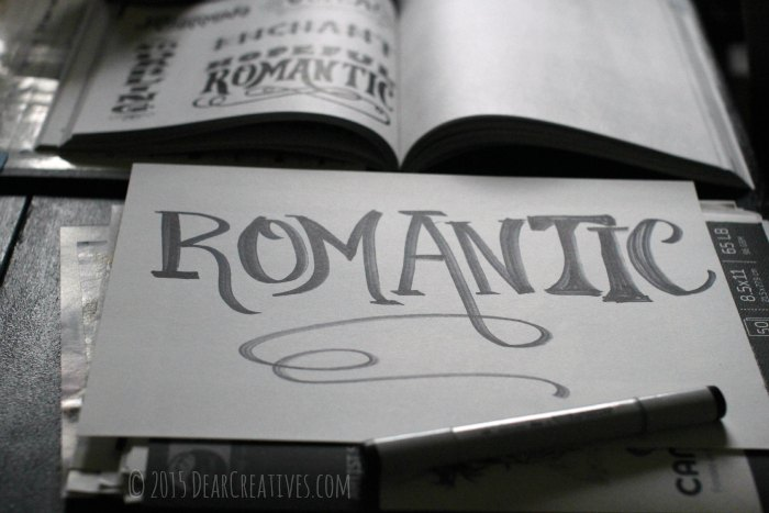 Books |Craft Book Reviews Handlettering the word Romantic