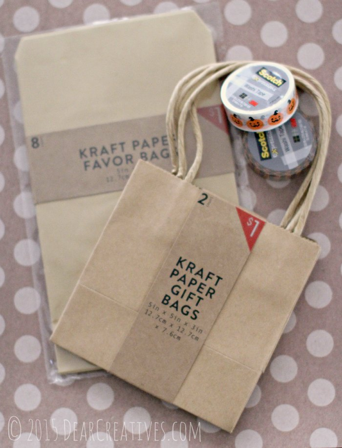 Craft Projects | Halloween Crafts | Party Favors DIYCraft DIY Projects Kraft Paper Bags and Scotch Washi Tape