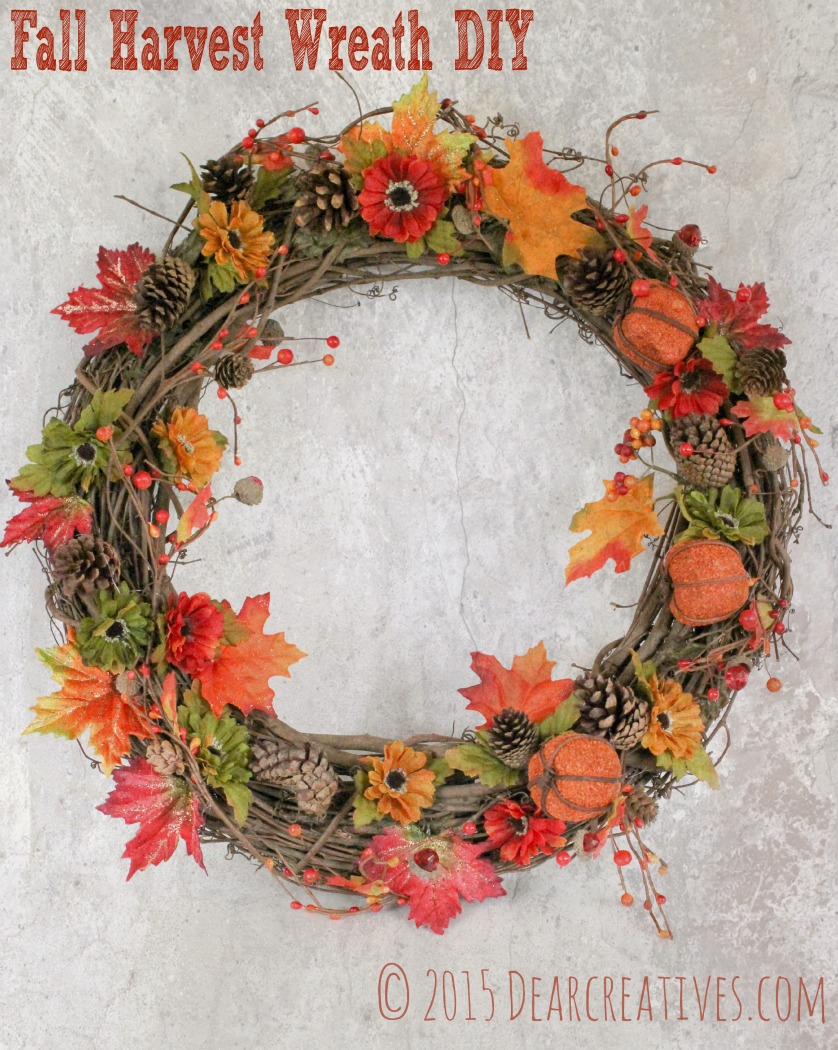 DIY Crafts Fall Harvest Wreath | wreath making tips for this craft diy