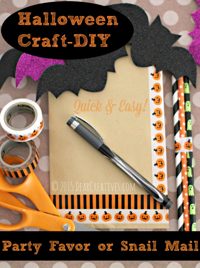 Craft Projects | Halloween Crafts | Party Favors-Snail Mail DIY