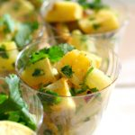 Sweet Potato Pineapple Salad In serving cups