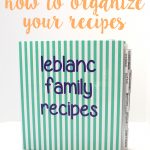 kitchen organization personalized recipe binder