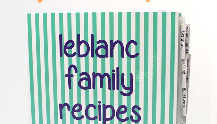 Kitchen Organization with a Personalized Recipe Binder