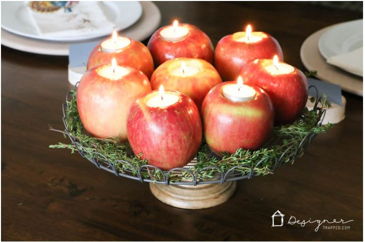 Apple Candle DIY