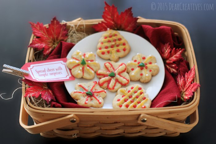 Baksket with holiday cookies