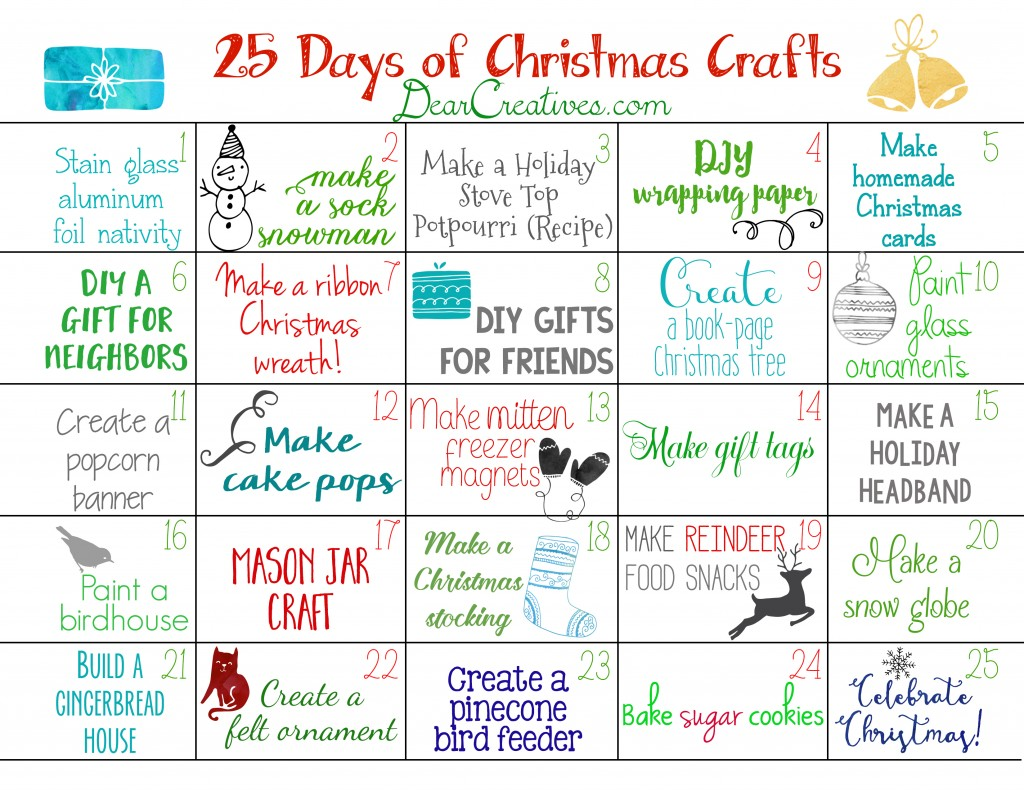 Xmas Calendar Ideas : Free printable christmas calendar craft