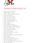 Bucket List | Free Christmas Bucket List Printable | Christmas Holiday Bucket List