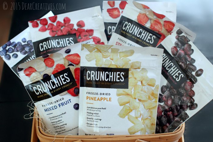 Crunchies Freese Dried Fruits in a basket