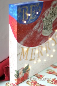 DIY Crafts Tutorial Led Holiday Canvas