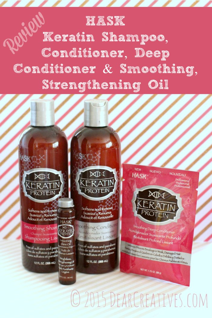 Hask Keratin Hair Care Shampoo and Conditioning Products Review