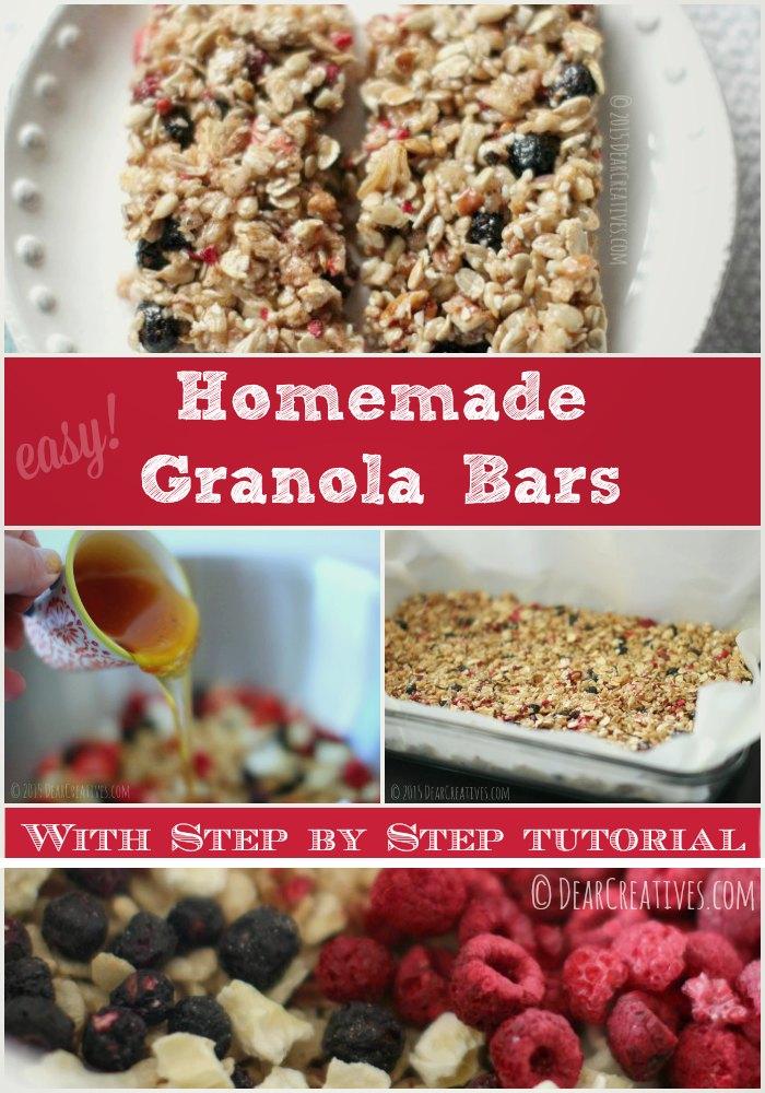 Treat recipes must try homemade granola bars homemade granola bar recipe solutioingenieria Choice Image