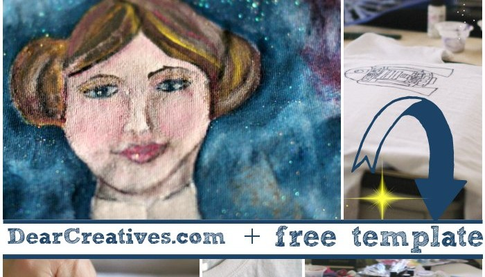 Star Wars Inspired Tee Shirts Fabric Painting DIY That Will Send You Into Orbit