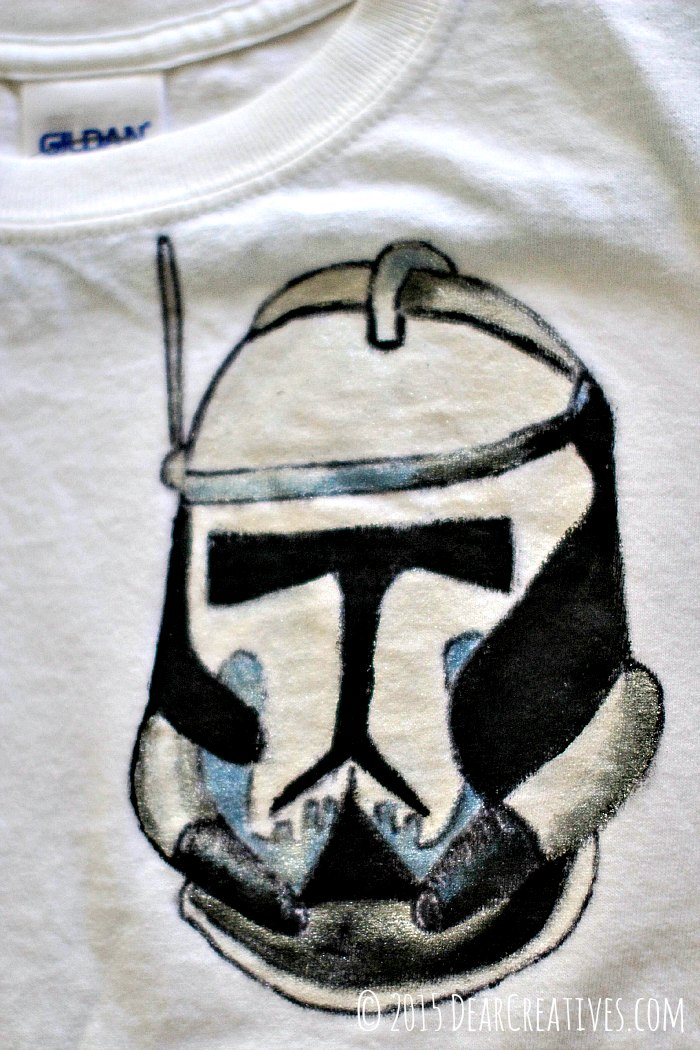 Storm Trooper Helmet Painted with Fabric Paints